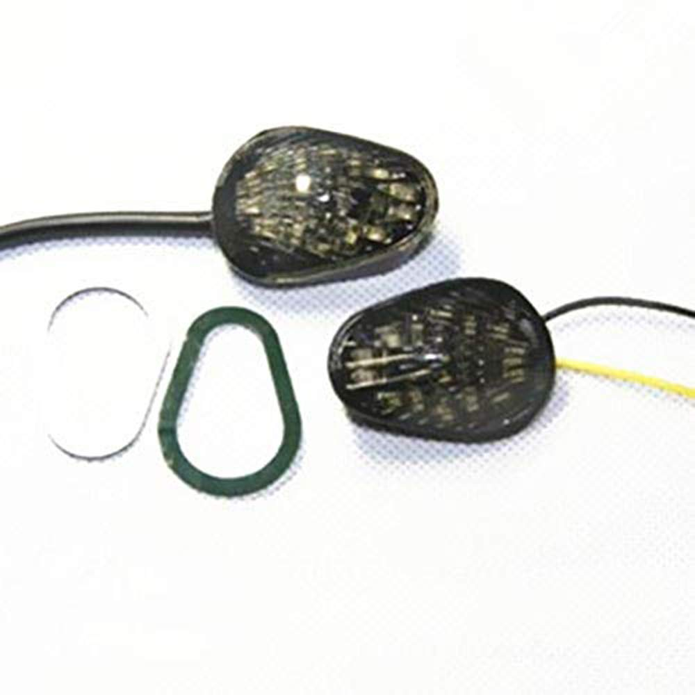 Clear Motorcycle Clear Flush Mount LED Turn Signal Indicator Lights For Yamaha YZF R1 YZF R6 YZF R6S 2002-2008 2003 2004 2005 2006 07