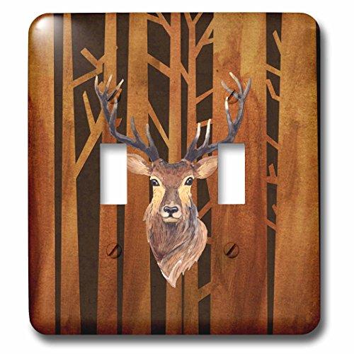 3dRose lsp_252339_2 Deer Antler Animals Wild Forest Tree ...