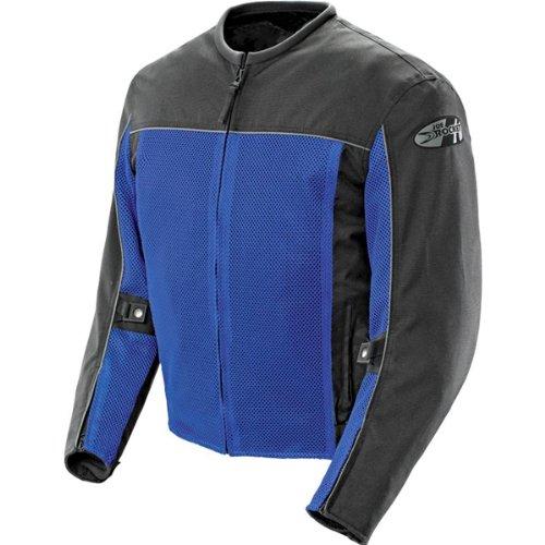 Joe Rocket Velocity Men's Textile Street Racing Motorcycle Jacket - Blue/Black / 3X-Large