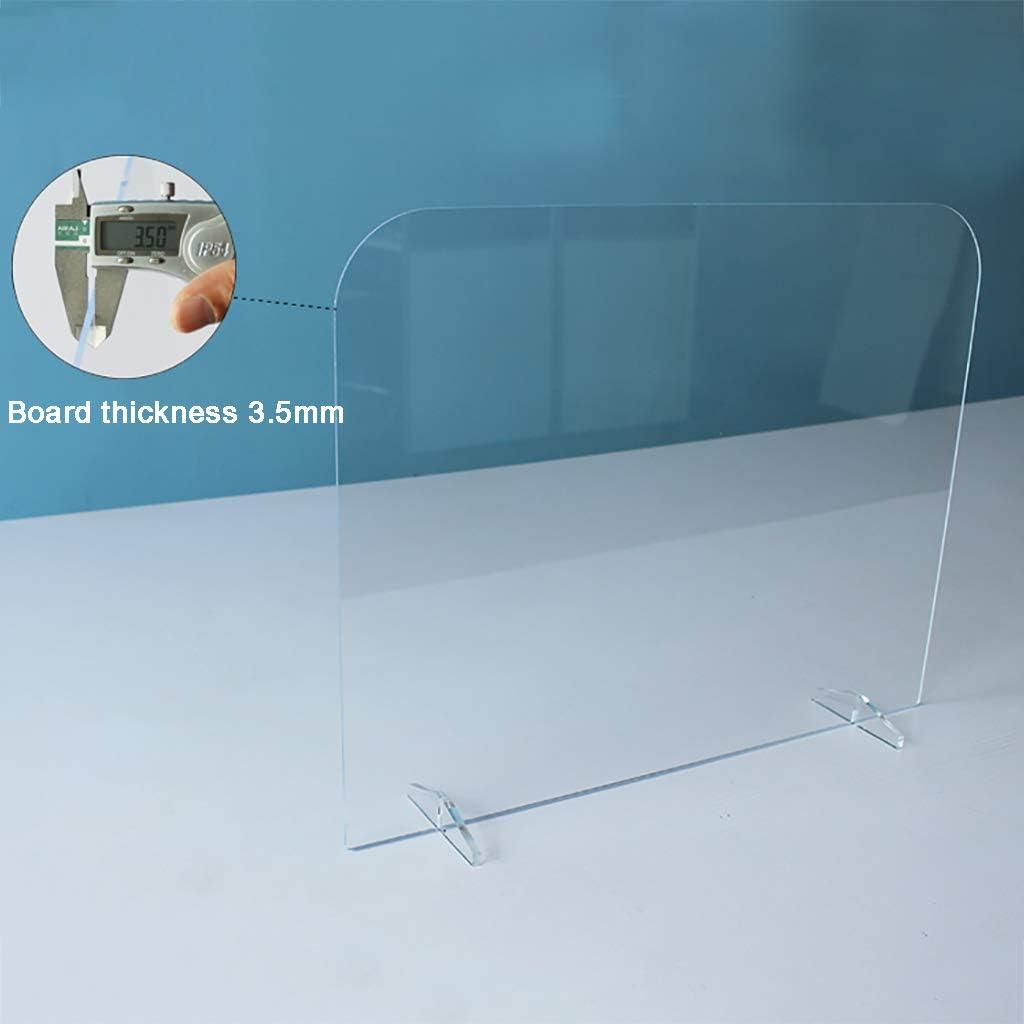 Wilk Plexiglas Trennwand Schreibtisch Shield Klarer Spuckschutz Gegen Transaktionsfenster Schutz vor Husten und Niesen