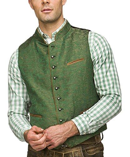 Stockerpoint Herren Trachtenweste Weste Paolo, Grün (Grün), Medium (Herstellergröße: 48)