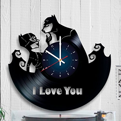 BATMAN - DARK KNIGHT - Vinyl Wall Clock - Get unique home room wall decor - Gift ideas for adults, teens – Addicted Movie Unique Art Design