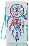 LG Stylo 3 Case, LG Stylo 3 Plus Case, Stylo 3 Wallet Case, JanCalm [Kickstand][Card/Cash Slots] [Wrist Strap] [3D Painted Dream Catcher Pattern] Premium PU Leather Fold Flip Pouch Cover + Crystal Pen