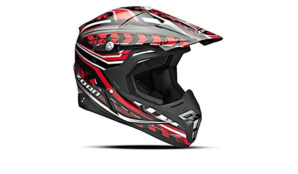 Amazon.es: Zoan sincronía Monster Negro Rojo Offroad MX motocicleta casco de equitación, 3 x -Large