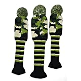 PLAYEAGLE 3pcs/Set Army Green Stripe Kniting Golf