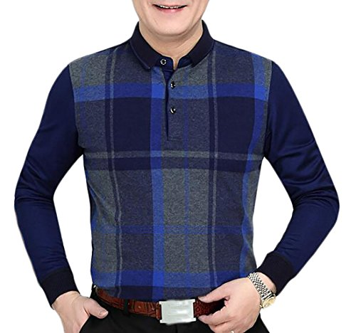 today-UK Men's Autumn Fake Two-Piece Shirt Collar Pullover Sweater 3