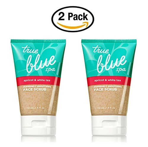 Apricot and White Tea Face Scrub 4 fl oz.- True Blue Spa by Bath & Body Works - Skin Smoothing Face Wash (Pack of - Scrub White Body Tea