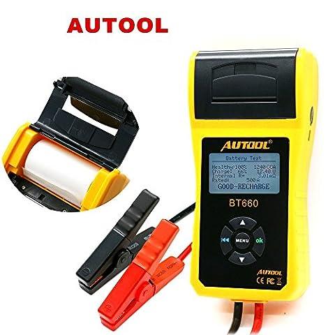 Autool BT660 Battery Conductance Tester BT-660 Auto Battery Testers Automotive Diagnostic Tools (Bt Diagnostic)
