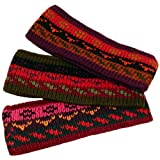 Three Alpaca Knit Headband Assortment Fine Winter Warmth