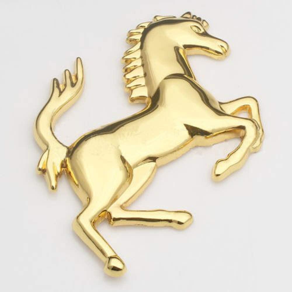 FROOKE 2019 Date Hot Fashion Silver Metal en Acier Inoxydable pour Ferrari Style Cheval Badge Embl/ème 3D Voiture m/étal Autocollants-Or /à Gauche