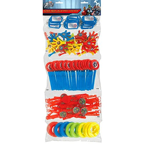 Fun Filled Avengers Super Mega Mix Value Set Birthday Party Favour, Plastic , 24