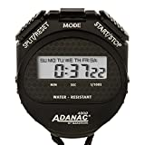 MARATHON ST083009 Adanac 4000 Digital Stopwatch Timer with Extra Large Display and Buttons, Water Resistant, One Year Warranty – Black