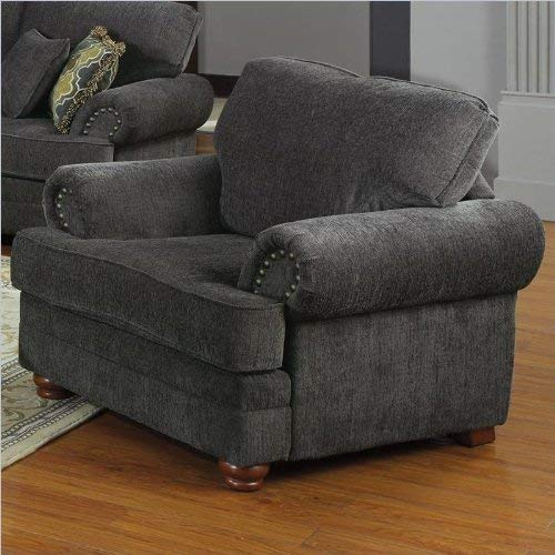 Coaster Home Furnishings Colton Chair with Rolled Arms Smokey Grey