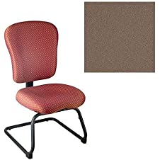 Office Master PA Collection PA61S Ergonomic Cantilever-based Side Chair - No Armrests - Grade 1 Fabric - Celestial Callisto Brown 1203 PLUS Free Ergonomics eBook