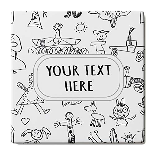 (Sandstone Coasters Square Set of 4 Custom Silhouette Kids Animal Picture Pattern adults -Coasters Only)