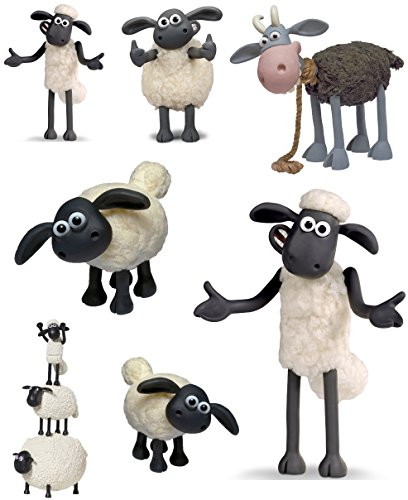 Shaun the Sheep Characters - 7 Iron On Heat Transfers - Random Sizes