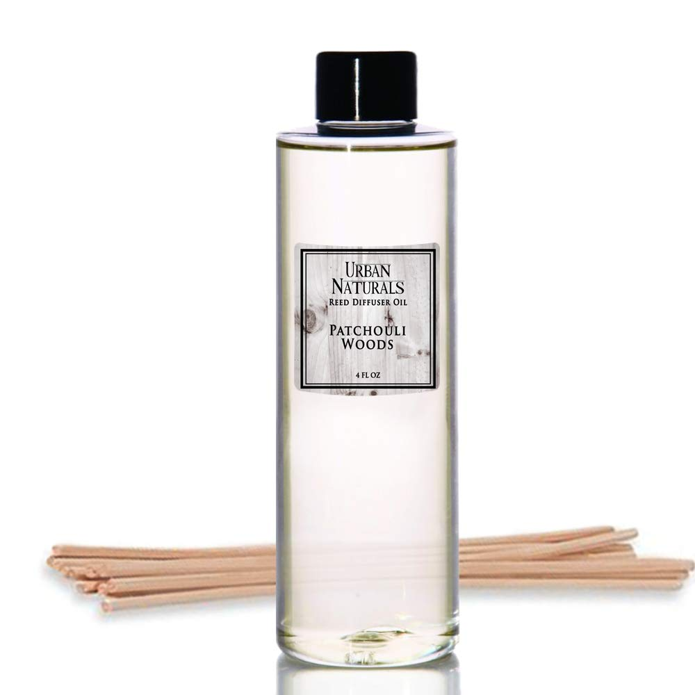 Urban Naturals Patchouli Woods Reed Diffuser Refill Oil with Replacement Sticks Kit | Sandalwood, Patchouli & Ylang Ylang Room Scent. Vegan. Made in The USA by Urban Naturals (Image #1)