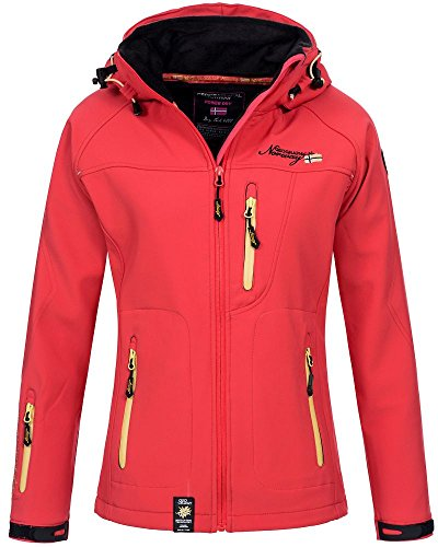 Soft Face mit Softshell North Jacke mujer Kapuze Coral para shell Nimble The xw0Fnqw