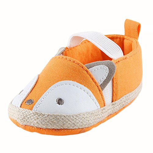 GBSELL Toddler Baby Girl Fox Shoes Sneaker Anti-slip Soft Sole Shoes (Yellow, 12~18 Month)