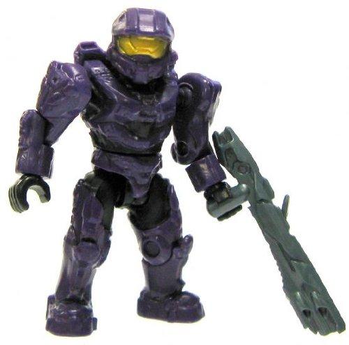 [Halo Wars Mega Bloks LOOSE Mini Figure UNSC Purple Spartan Mark VI [Series 8]] (Spartan Mark)