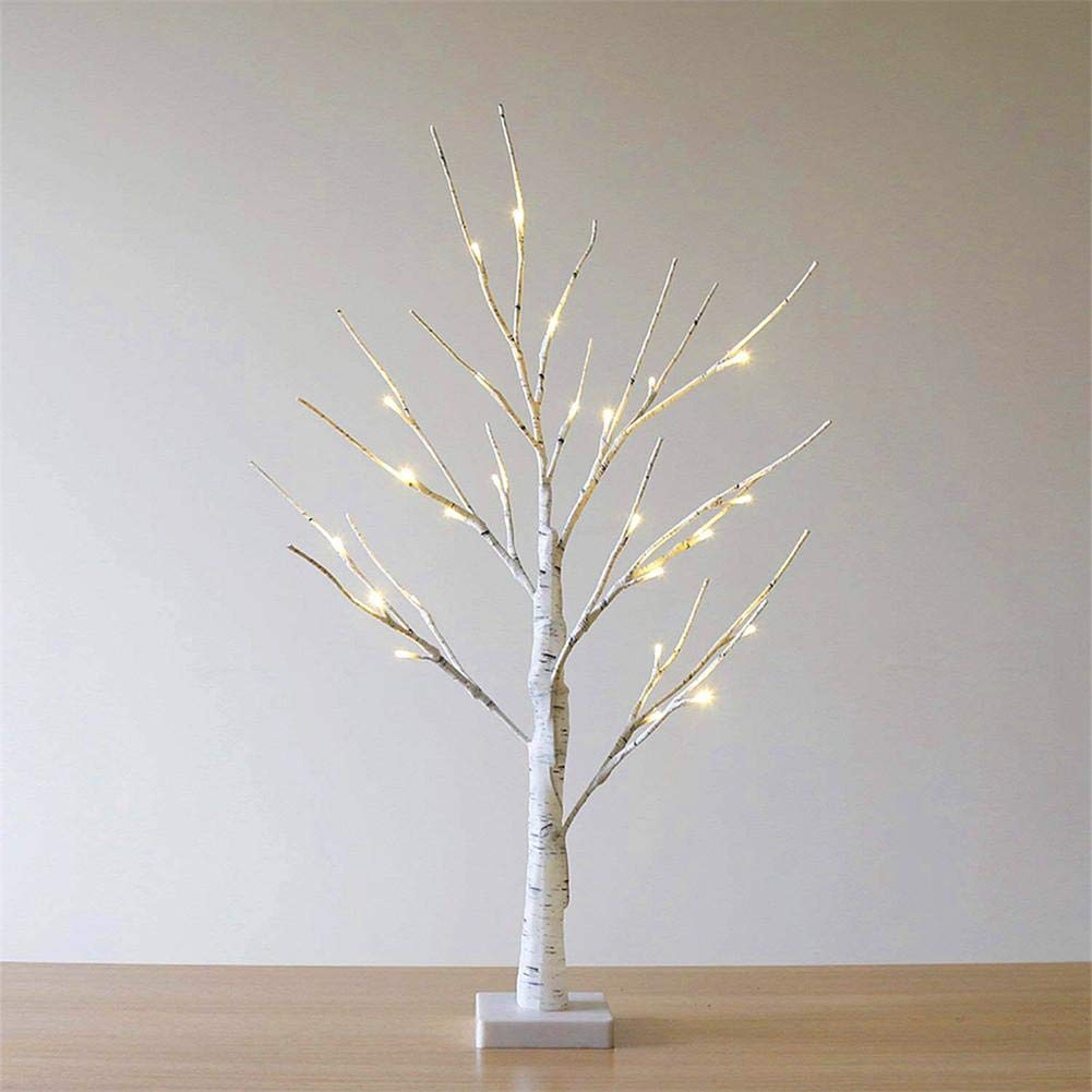per Newly LED Birch Tree Tree Lights Hand-Painted Bonsai String Light 24 LED for Indoor Use Warm White Lights Christmas Decorations Lighted Tree Decor for Home, Wedding, Festival, Party