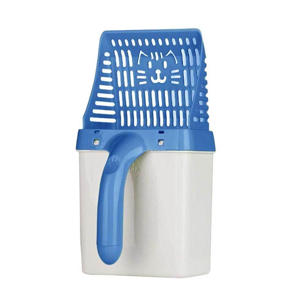 AOLVO Pala per rifiuti per Animali Domestici Cestino del Cucchiaio di Gatto Pala per rifiuti di plastica lettiera Cinghia per Cani Cacca Portatile con Sacchetto di erogazione -Verde