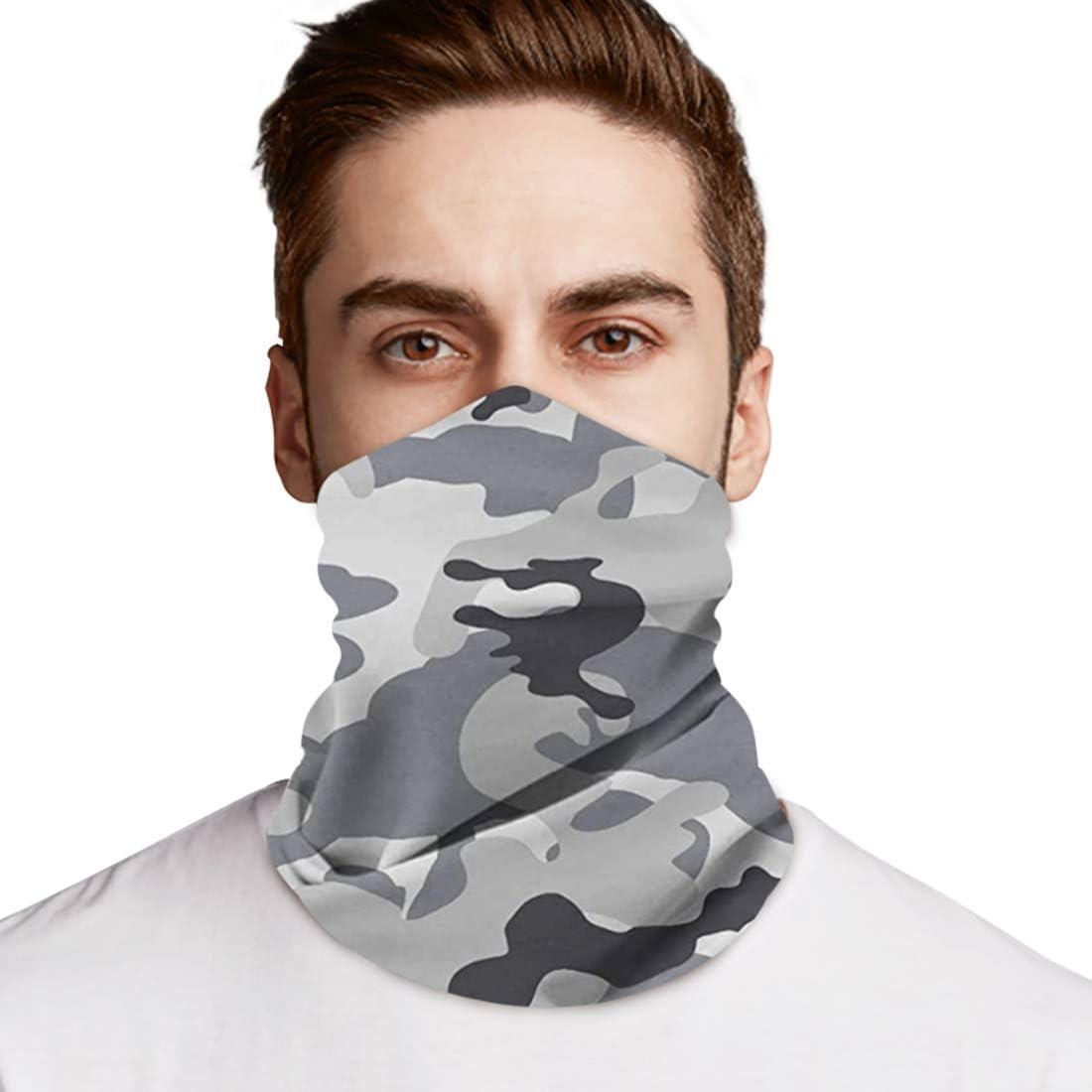 1 Pink Camo Face Mask Cover Neck Gaiter Bandana Balaclava Headband Protection