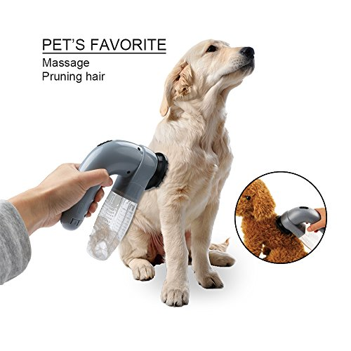 Your Supermart Electric Pet Dog Cat Vacuum Hair Fur Trimmer Remover Shedding Groomer Brush