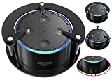FitSand(TM) Speaker Stand Guard Holder Wall Mount for Echo Dot - Enhanced Strength and Stability (Black)