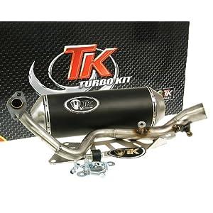 sourcingmap Motorbike Exhaust Pipe Muffler Silencer Silver Tone 60mm Dia