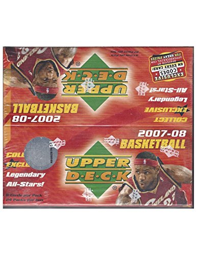 08 Basketball Rookie Pack (2007-08 Upper Deck Basketball Factory Sealed Box 24 Packs 5 Cards Per Pack Look For Kevin Durant Rookie)
