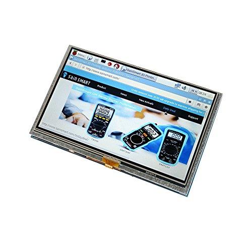 SainSmart 5 inch LCD for Raspberry Pi 3 2 1 Model B+ A+ B 800x480 Touch LCD Screen HDMI Display Module Mini PC by SainSmart (Image #1)