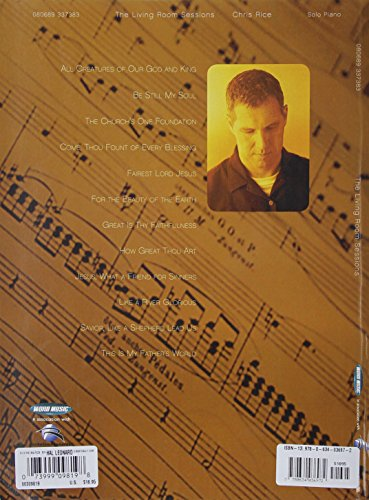 Chris Rice The Living Room Sessions Piano Solo Personality Buy Online In Uae Paperback