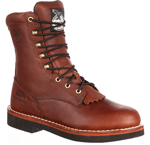 Georgia G7014 Mid Calf Boot, Barracuda Walnut, 10 M US