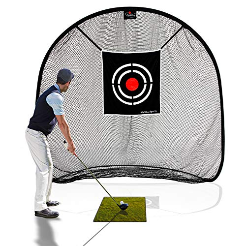 Galileo Golf Net Golf Hitting Nets for Backyard Practice Portable Driving Range Golf Cage Indoor Golf Net Training Aids with Target -