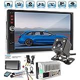 Car Rear View Camera + Cavogin 7 inch Double Din Touchscreen In Dash Stereo Car Receiver Audio Video Player Bluetooth FM Radio Mp3 MP5/TF/USB/AUX + Remote Control