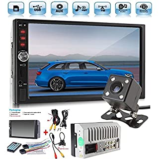 Sale Off Car Rear View Camera + Cavogin 7' inch Double Din Touchscreen In Dash Stereo Car Receiver Audio Video Player Bluetooth FM Radio Mp3 MP5/TF/USB/AUX + Remote Control