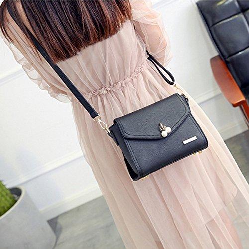 La Sra. Nueva Bolsa De Bandolera De Moda Coreana Black