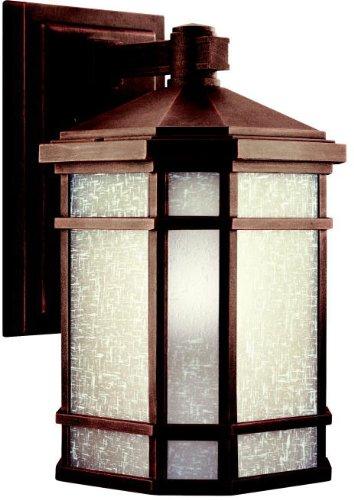 Kichler 11018PR Outdoor Wall 1-Light Fluorescent, Prairie (Prairie Style Outdoor Lighting)