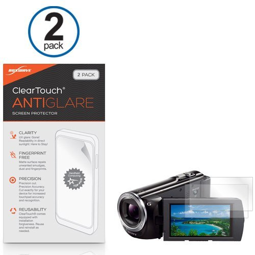 Sony HDR-PJ380 Screen Protector, BoxWave ] Anti-Fingerprint