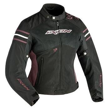 Ixon Electra Chaqueta para Moto, Talla L, Color Negro/Berenjena: Amazon.es: Coche y moto