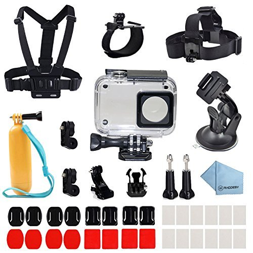Rhodesy 41 in 1 Xiaomi Yi 4K/ 4K+/ Yi Lite/ Yi Discovery 4K Protective Waterproof Housing Case Accessories Bundle for Xiaomi Yi 4K/4K+/Yi Lite Action Camera 2