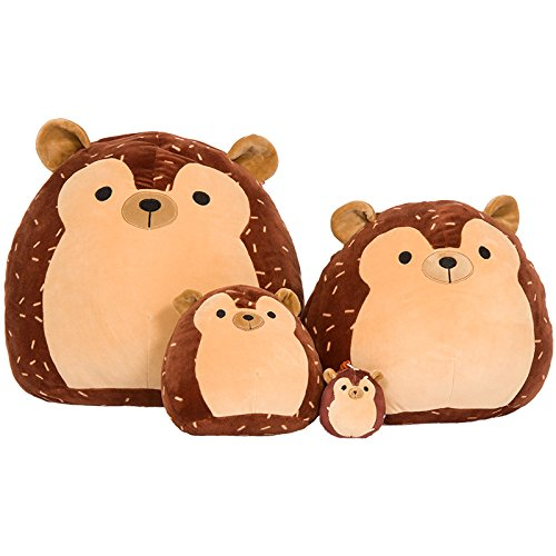 SQUISHMALLOW Hans The Hedgehog Pillow Stuffed Animal, Brown, 16''