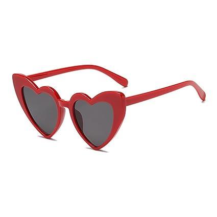 LX-LSX Gafas de Sol Amor Corazón Gatos Ojos Lindo Disparo Compras Senderismo Sombrilla Protección