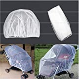 yuye-xthriv Stroller Pushchair Anti-Insect Mosquito Net Safe Mesh Protector for Baby Infant White