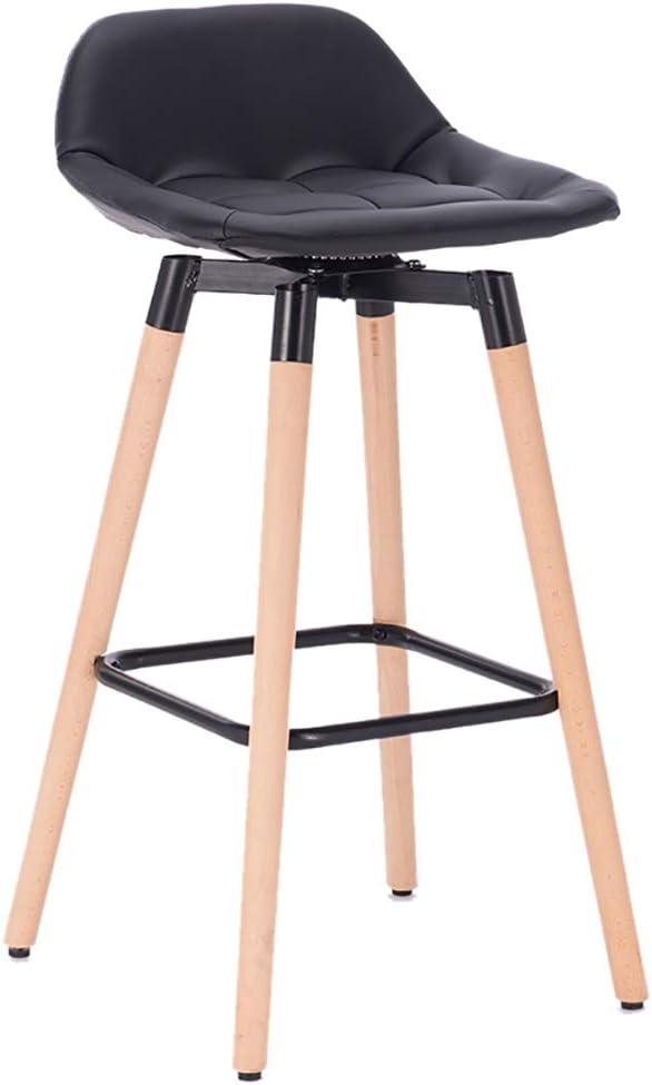 バーチェア朝食回転スツール、のどの革キッチンスツール、あと振れ止め付き360°回転バースツールチェア、キッチン/パブ用、ブナの脚、色:黒、赤、など