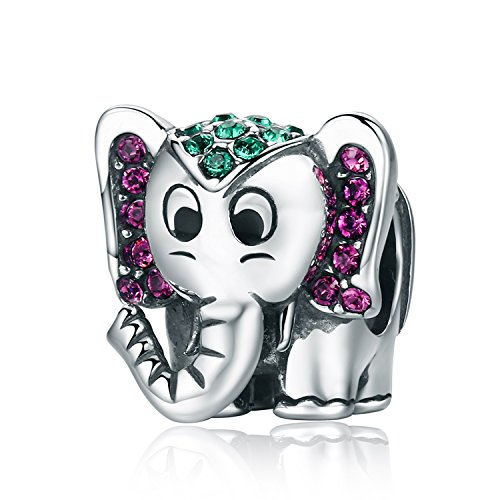 Pandora Jewellery - Lucky Elephant Charm Cute Animals Enamel Charms fit Pandora Bracelet Necklaces Jewelry Birthday Gifts