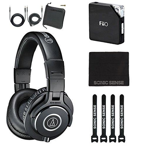 Audio-Technica ATH-M40x Headphones with FiiO e6 Headphone Amp Bundle