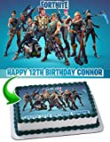 Fortnite Edible Image Cake Topper Personalized Icing Sugar Paper A4 Sheet Edible Frosting Photo Cake 1/4 ~ Best Quality Edible Image for cake
