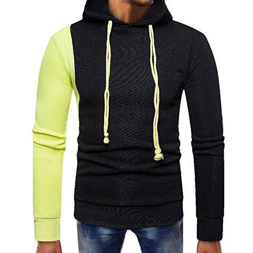 Sunhusing Men's Paneled Pocket Long Sleeve Sweater Pullover Top Slim Sweatshirt Blouse